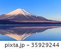 富士山 逆さ富士 山中湖の写真 35929244