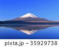 富士山 逆さ富士 山中湖の写真 35929738