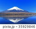 富士山 逆さ富士 山中湖の写真 35929846