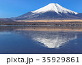 山中湖_薄氷と逆富士 35929861