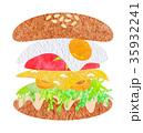 ハンバーガー 35932241