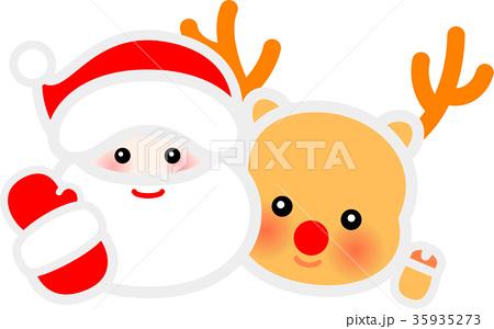 サンタクロースとトナカイ クリスマス 35935273