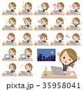 女性 若い ノートパソコンのイラスト 35958041