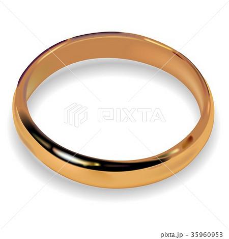 Golden Wedding Ring 35960953