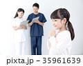 女の子 子供 看護師の写真 35961639
