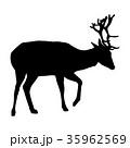 鹿 動物 人影のイラスト 35962569