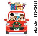 クリスマス 車 ギフトボックスのイラスト 35962626