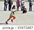 運動会 リレー 走るの写真 35972887