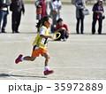 運動会 リレー 走るの写真 35972889