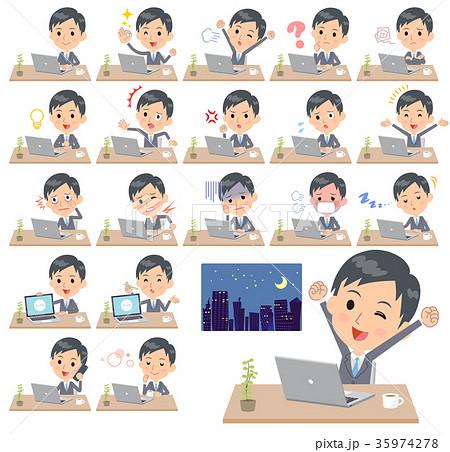 Gray Suit Businessman_desk work 35974278