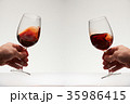 Red wine two glasses 35986415