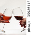 Toast of two wine glasses 35986417