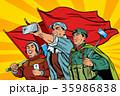 働く チャイニーズ 中国人のイラスト 35986838