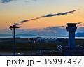 神戸空港 夕暮れ 日没の写真 35997492
