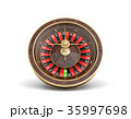 3d rendering of an isolated wooden casino roulette 35997698