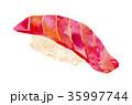 寿司 中トロ マグロのイラスト 35997744