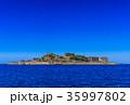 軍艦島と青空 軍艦島クルーズ 35997802