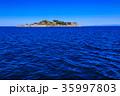 軍艦島と青空 軍艦島クルーズ 35997803