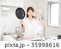 女性 キッチン OK 35998616