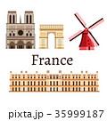 ベクトル パリ フレンチのイラスト 35999187