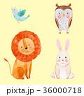 ライオン 鳥 うさぎのイラスト 36000718