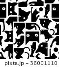 可愛いネコをパターンに 36001110