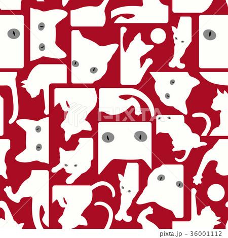 可愛いネコをパターンに 36001112