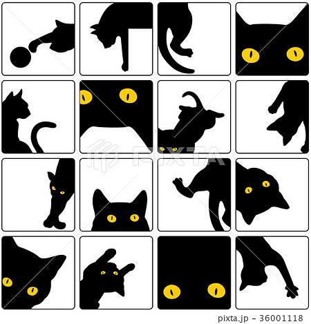 可愛いネコをパターンに 36001118