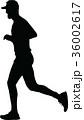 ランナー 走者 人影のイラスト 36002617