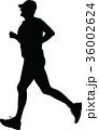 ランナー 走者 人影のイラスト 36002624