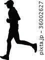 ランナー 走者 人影のイラスト 36002627