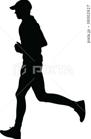 runner silhouette. run vector 36002627