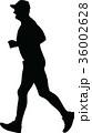 ランナー 走者 人影のイラスト 36002628
