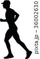 ランナー 走者 人影のイラスト 36002630