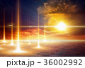 Abstract dramatic scientific background 36002992