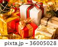 クリスマス プレゼント クリスマスツリー リボン ギフト クリスマスカラー ゴールド 36005028