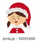 クリスマス サンタクロース 子供のイラスト 36005888