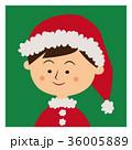 クリスマス サンタクロース 子供のイラスト 36005889