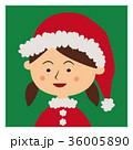 クリスマス サンタクロース 子供のイラスト 36005890