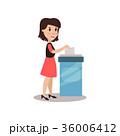投票 女 女性のイラスト 36006412