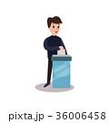 男 投票 投票用紙のイラスト 36006458
