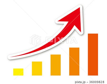 矢印グラフのイラスト素材 36009828 Pixta