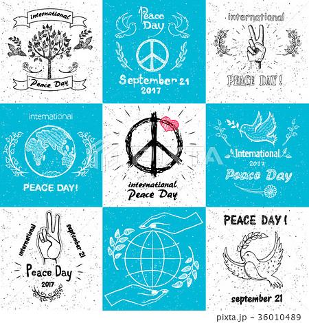 International Peace Day september 21 Set of Vector 36010489