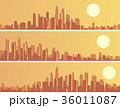 セット 組み合わせ 夕日のイラスト 36011087