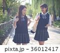 京都の街を歩く女子高生 下校 修学旅行 36012417