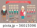 人 セット 組み合わせのイラスト 36015096