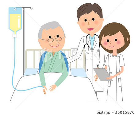 白衣の男性 看護師 入院患者  36015970
