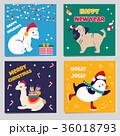 クリスマス ぺんぎん ペンギンのイラスト 36018793