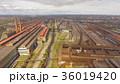 Aerial view of industrial steel plant. Aerial 36019420