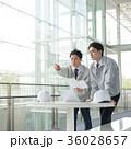 ビジネスマン 打ち合わせ 作業員の写真 36028657